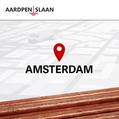 Aardpen slaan Amsterdam
