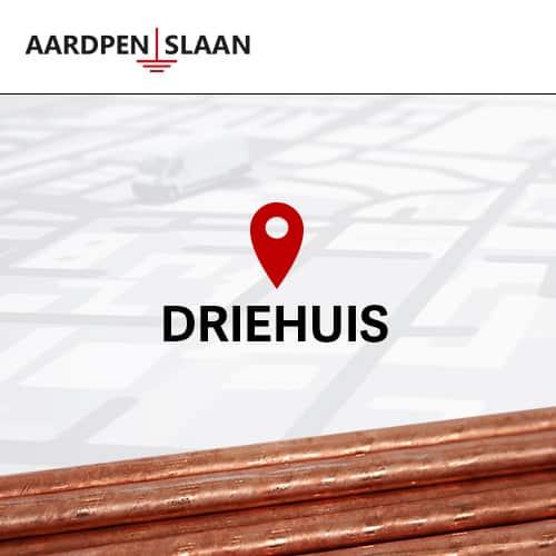 Aardpen slaan Driehuis