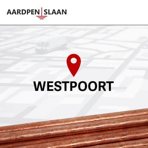 Aardpen slaan Westpoort