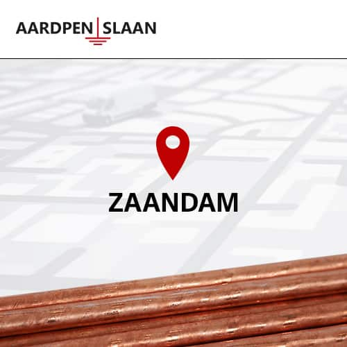 Aardpen slaan Zaandam