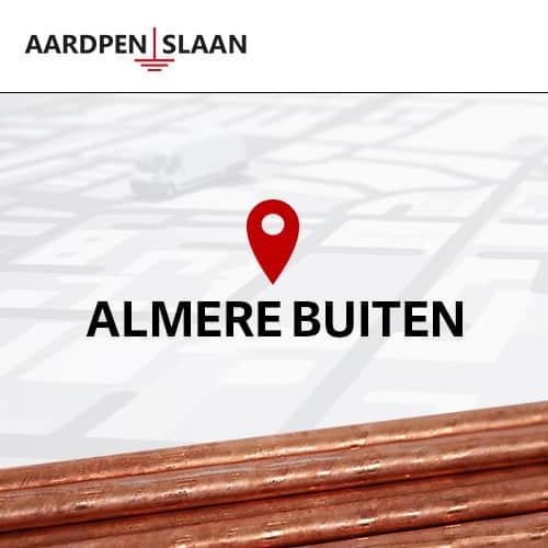 Aardpen slaan Almere Buiten