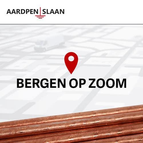 Aardpen slaan Bergen op Zoom