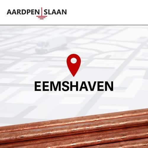 Aardpen slaan Eemshaven