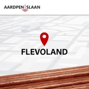 Aardpen slaan Flevoland