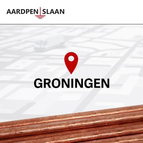 Aardpen slaan Groningen