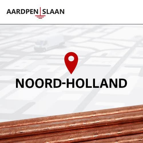 Aardpen slaan Noord-Holland