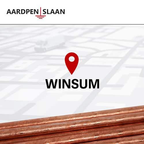 Aardpen slaan Winsum